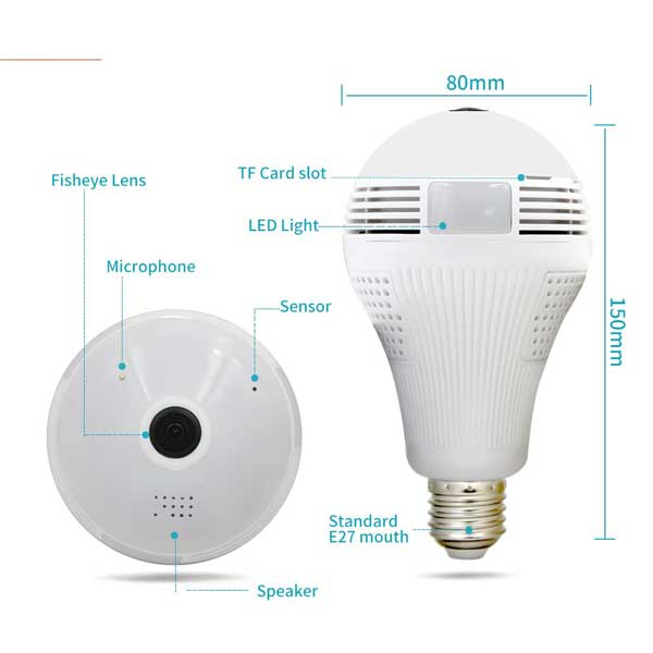 icsee bulb wireless wifi camera