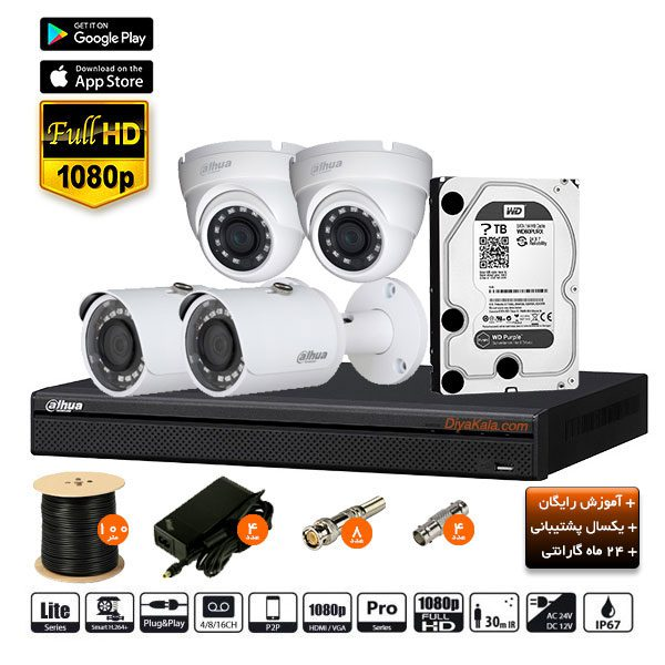 CCTV PACKAGE DAHUA 12M2S2