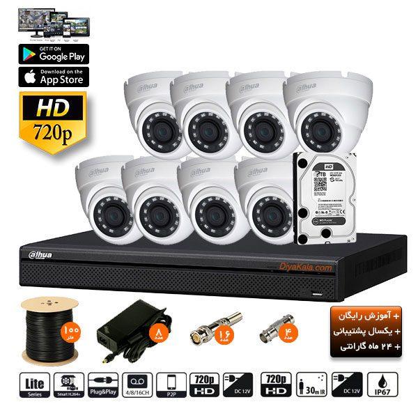 dahua package cctv pak 10m8 camera