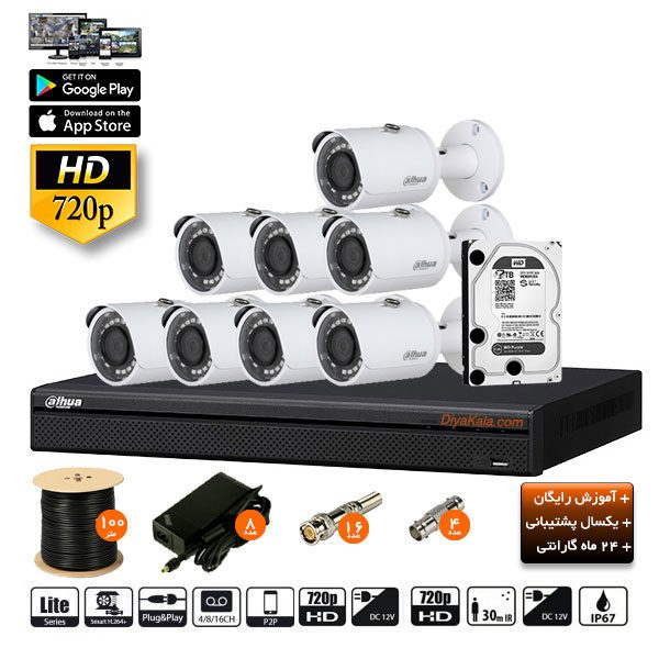 dahua package cctv pak 10s8 camera